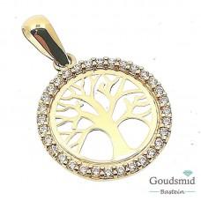 Gouden hanger 14 karaat geelgoud zirkonia 249.120.00