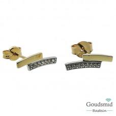 Joy & Julia 14 karaat bicolor gouden oorknoppen zirkonia 295.130.00