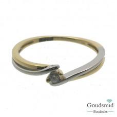 Joy & Julia 14 karaat bicolor gouden ring zirkonia 299.126.05