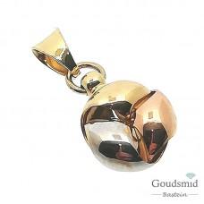 Gouden hanger 14 karaat tricolor 5506