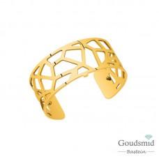 Les Georgettes armband XL 25mm goudkleurig giraffe