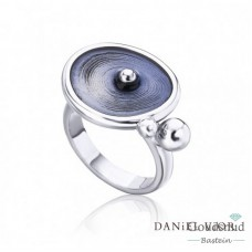 Daniel Vior Drops zilveren ring
