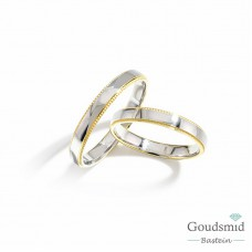 Bluerings trouwringen set BU004 14kt goud