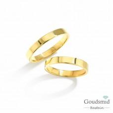 Bluerings trouwringen set BU006 14kt goud