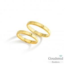 Bluerings trouwringen set BU008 14kt goud