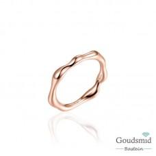 Infinitois zilveren ring verguld
