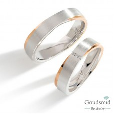 Bluerings trouwringen set PA019 14kt goud zirkonia