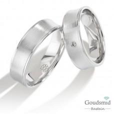 Bluerings trouwringen set PA029 14kt goud Diamant