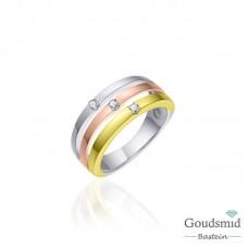 Huiscollectie zilveren ring tricolor