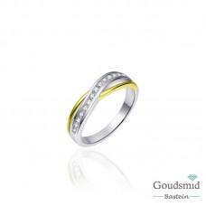 Huiscollectie zilveren ring geel