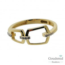 Gouden ring 14 karaat zirkonia