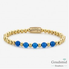 Rebel&Rose Yellow Gold meets Brightening blue RR-60066-G-S