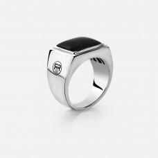 Rebel&Rose Zilveren Ring vierkant Onyx RR-RG004-S-69